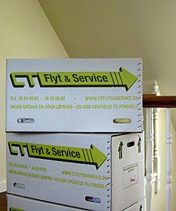Gratis lån af flyttekasser under flytning